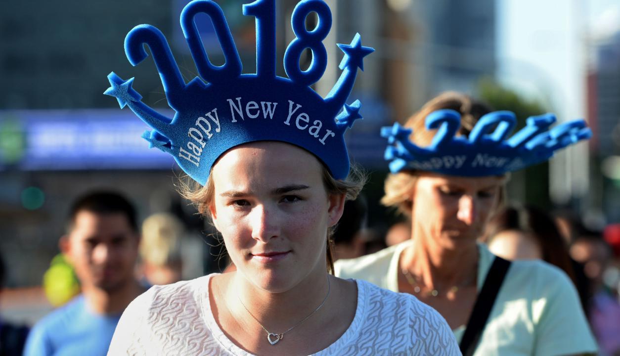 Australia celebró el cambio de año. Foto: AFP