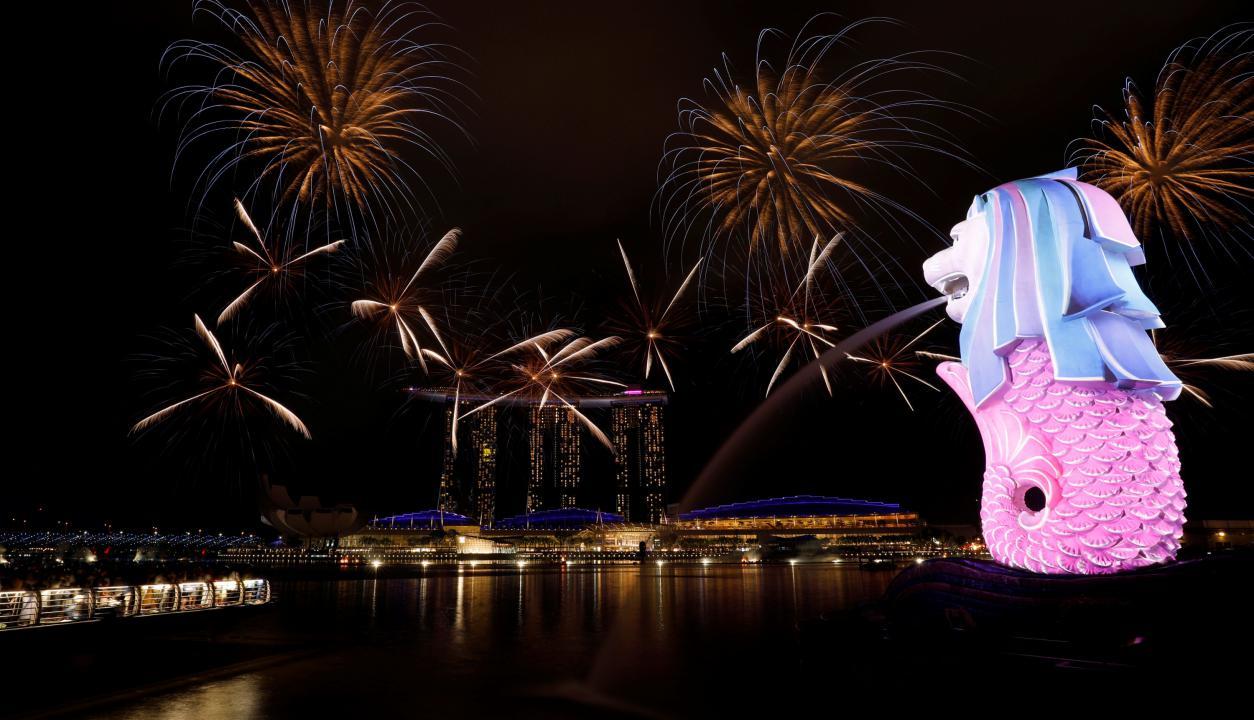 Año nuevo en Singapur. Foto: Reuters