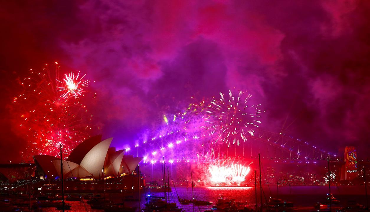 Australia celebró el cambio de año. Foto: Reuters