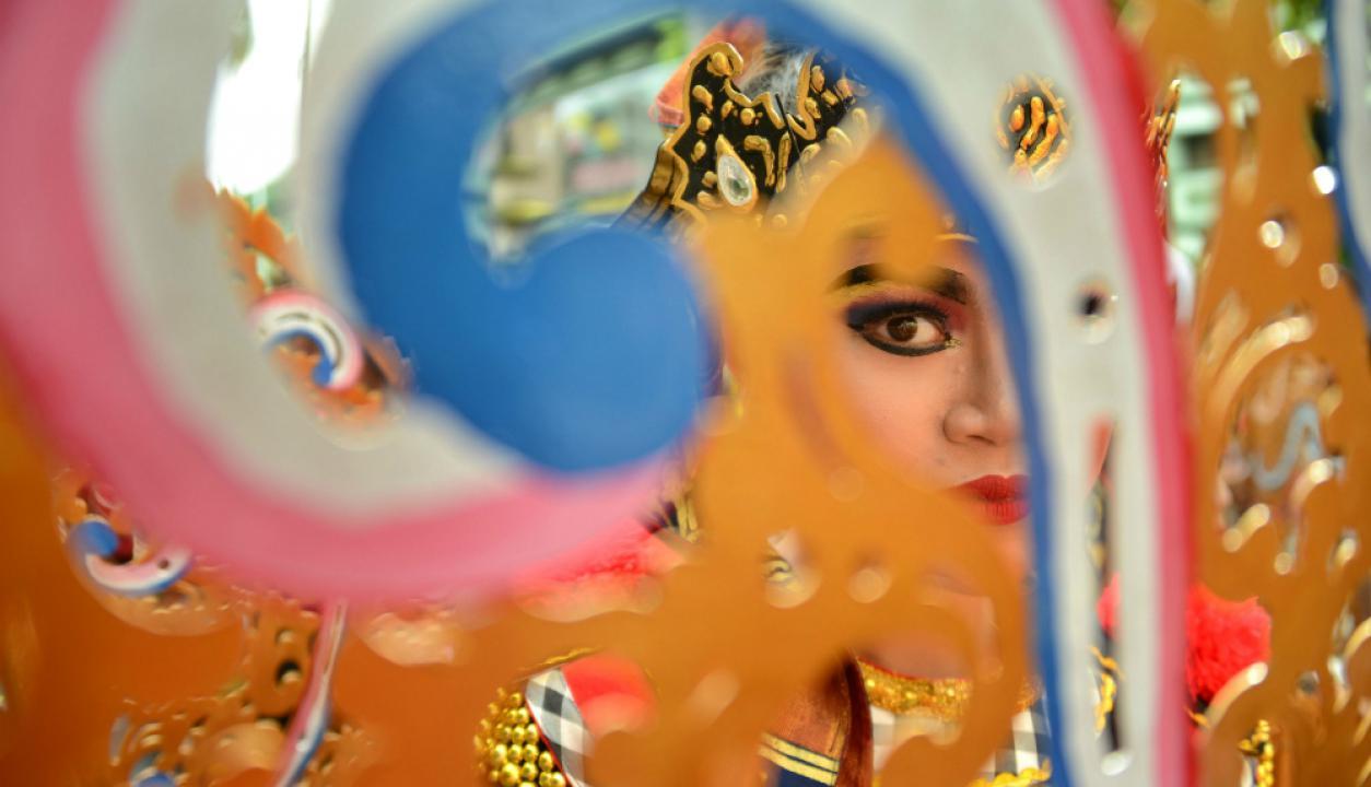 En Indonesia predominan los colores vibrantes durante los festejos. Foto: AFP