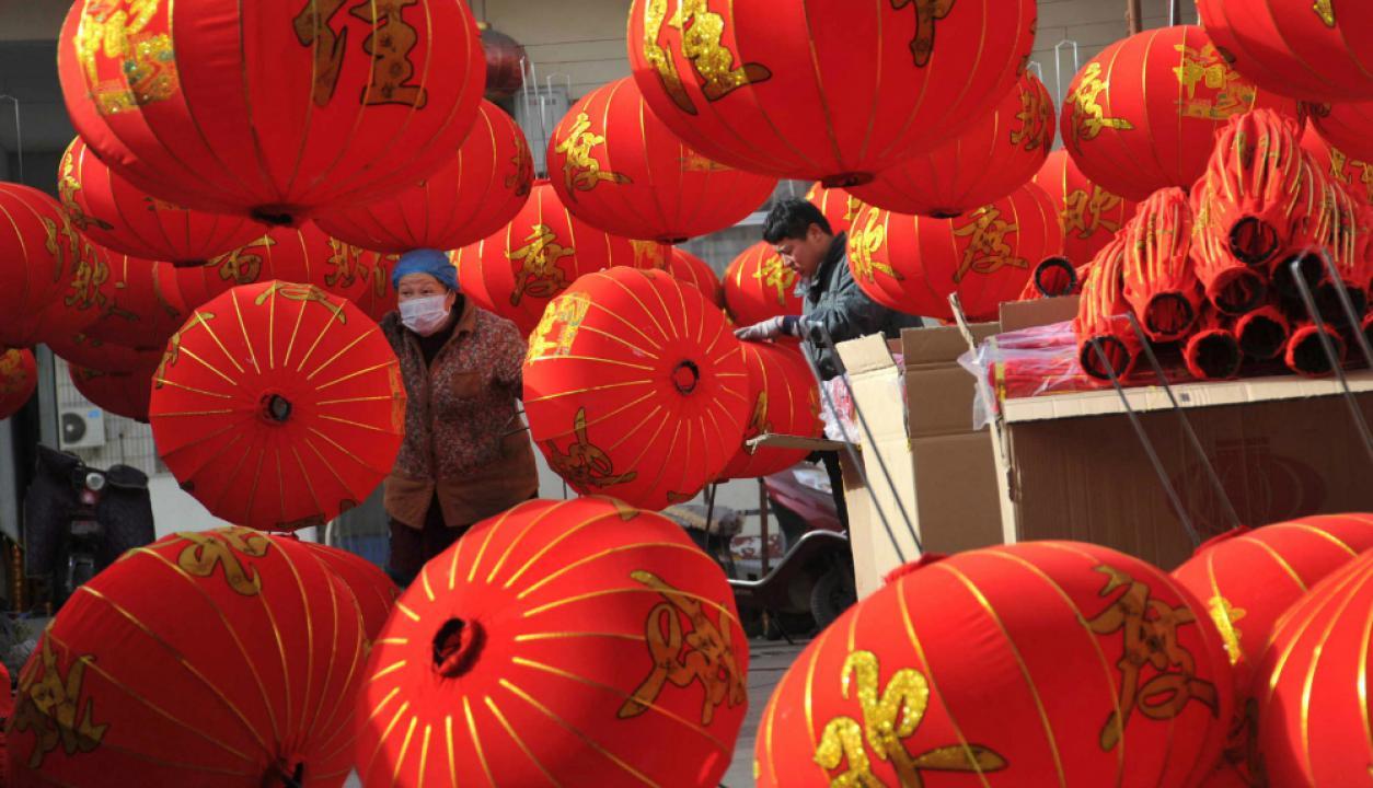 China se llena de sus clásicos globos de papel. Foto: Reuters