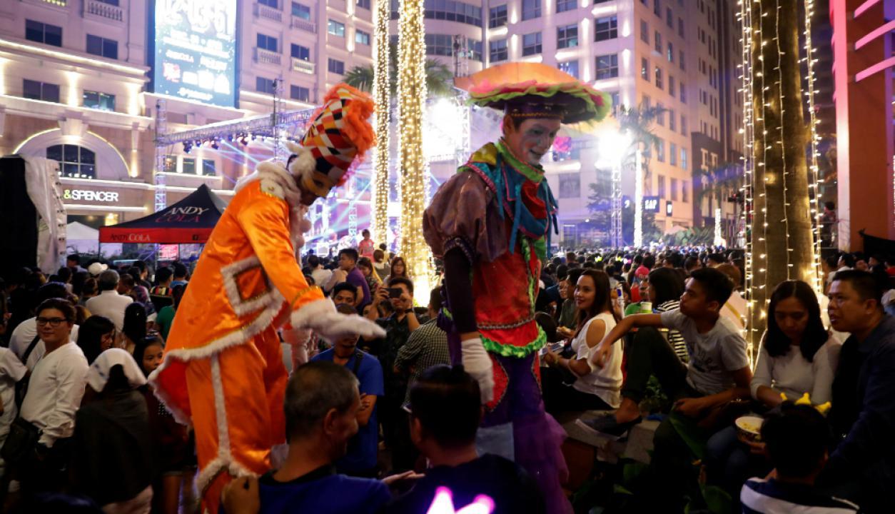 En Filipinas el Fin de Año es una fiesta. Foto: Reuters