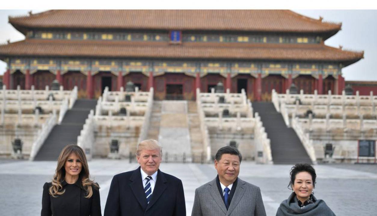 El 8 de noviembre Trump visitó al presidente de China, Xi Jinping. Foto: AFP