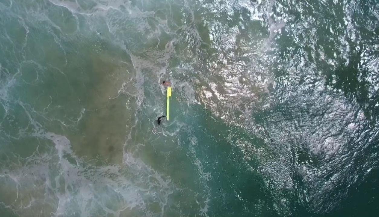 Dos australianos fueron salvados de ahogarse gracias a un dron. Foto: AFP
