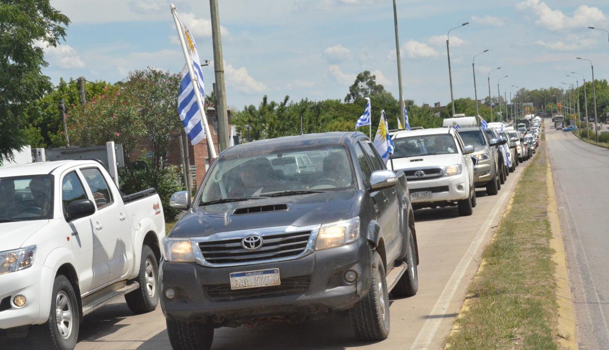 Movilización del agro en Durazno. Foto: Víctor Rodríguez