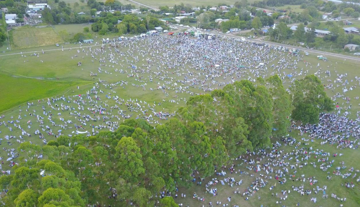 Movilización del agro en Durazno. Foto: EL País