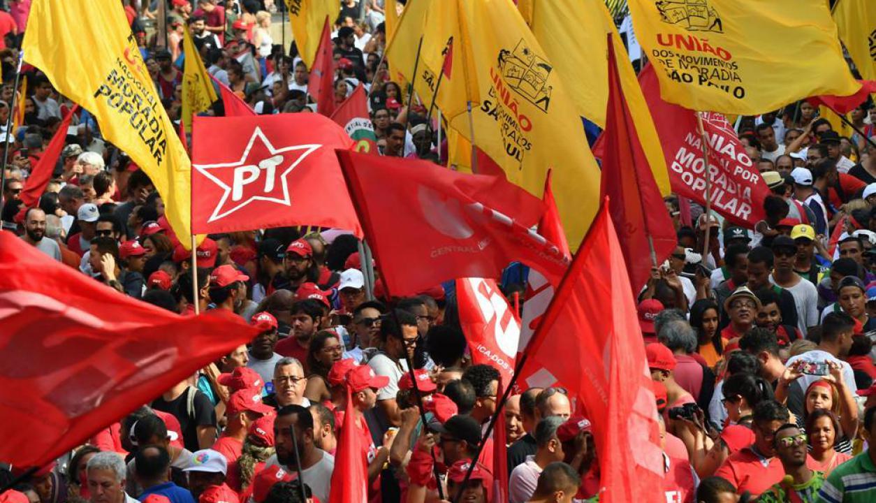 En San Pablo hubo manifestaciones en apoyo a Lula Da Silva. Foto: AFP