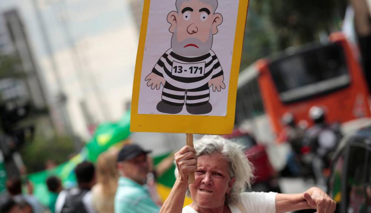 En las calles de San Pablo esperaron el fallo y dejaron clara su posición. Foto: AFP