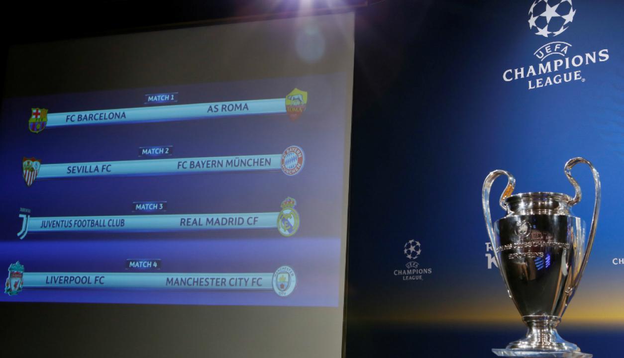 Se sortearon los cuartos de final de Champions League ...