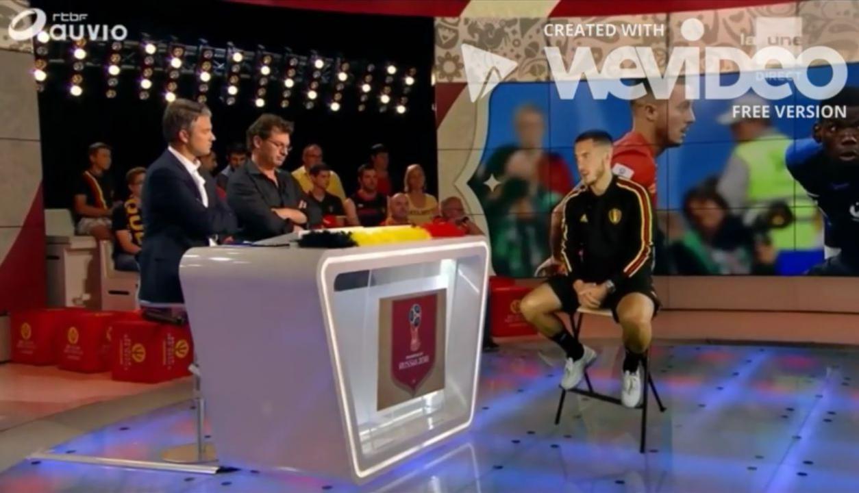 Hazard en TV belga a través de un holograma