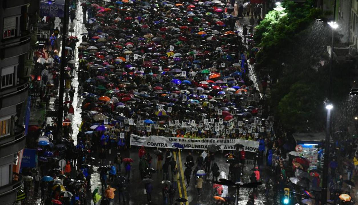 Edición 24 de la Marcha del Silencio en Montevideo. Foto: Fernando Ponzetto