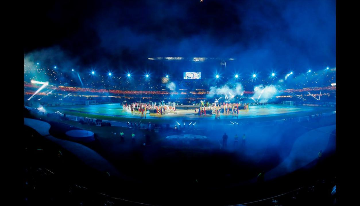 Fiesta inauguración Copa América 2019 en el Estadio Morumbi.