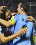El festejo de Uruguay. Foto: AFP