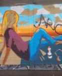 La obra vandalizada fue del artista Rodrigo López. Foto: Gentileza Lucia Arace