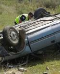 El conductor salió despedido del vehículo. Foto: cw33florida.com.uy