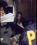 Florencia Bergamini en el momento de la detención. Foto: vía La Nación | GDA