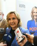 Laura Raffo, candidata de la coalición multicolor a la IMM. Foto: Darwin Borrelli