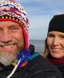 Elle West y Jeremy Kroeker canadienses en uruguay