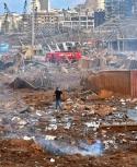 Decenas de muertos y miles de heridos por explosión en un depósito en Beirut. Foto: AFP