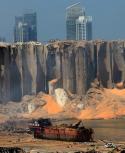 Explosión por casi 3.000 toneladas de nitrato de amonio dejó centenas de muertos y miles de heridos. Foto: AFP.