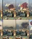 La explosión en Beirut, Líbano. Foto: AFP