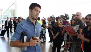 El viaje de Luis Suárez con su familia a Berlín. Termo y mate bajo el brazo. Fotos. Mundo Deportivo