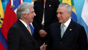 Vázquez y Temer tienen visiones diferentes sobre la legislación laboral. Foto: Reuters
