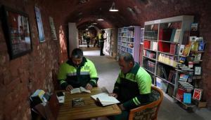 La biblioteca de los basureros turcos. Foto: AFP