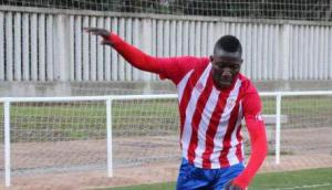 Nasif Moha jugando para el Algeciras. Foto: @AlgecirasCF