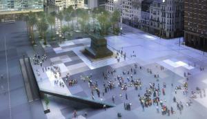 Plaza Independencia: una renovación que tuvo premio en la década anterior pero se dejó de lado. Foto: Difusión