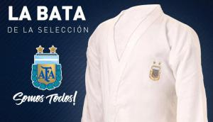 La bata de la selección argentina. Foto: @Argentina