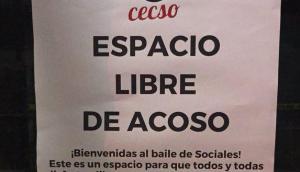 El cartel de los estudiantes de Sociales. Foto: Twitter @cecsofeuu