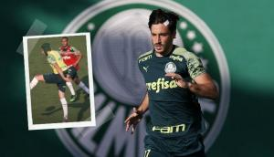 El nuevo look 'Cech' de Matías Viña en Palmeiras. Fotos: @Palmeiras