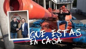 Tanque de guerra, Natalia Oreiro y Facundo Arana: la bizarra presentación de Gaich. Fotos: CSKA Moscú