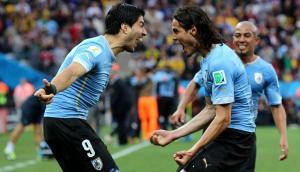 Luis Suárez y Edinson Cavani hacen soñar con nuevos gritos de gol de los uruguayos. Foto: Archivo El País