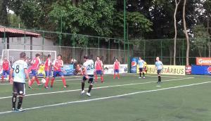 El partido entre Uruguay y Costa Rica en el Mundial de Fútbol 7 de Guatemala. Foto: @ranfetronick