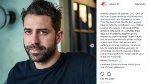Ignacio Mattos en Esquire. Foto: Instagram