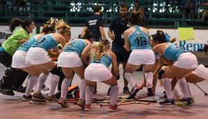 Selección uruguaya de indoor hockey. Foto: PAHF
