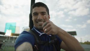Luis Suárez en la publicidad de Samsung