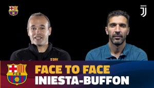 La entrevista doble a Iniesta y Buffon. Foto: captura