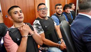 La banda de Los Monos en el juicio. Foto: La Nación (GDA)