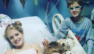 Justina con sus hermanos. Foto: La Campaña de Justina / Twitter.