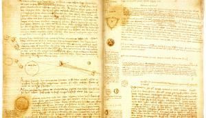 """Codex Leicester"" de Da Vinci. v: Wikimedia Commons"