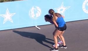 Llegada heroica en la maratón de Dallas