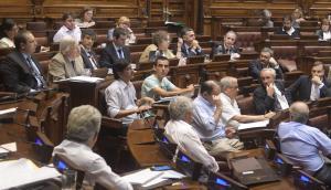 Diputados: Astori dejó casi todo el informe a cargo de Jorge Polgar. Foto: F. Flores