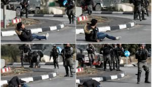 La secuencia donde tropas israelíes matan a un joven palestino. Foto: Reuters