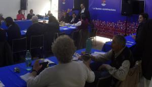 Frente: ayer se reunió la última Mesa Política del año. Foto: F.  Ponzetto