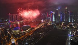 Singapur celebró el año nuevo. Foto: AFP