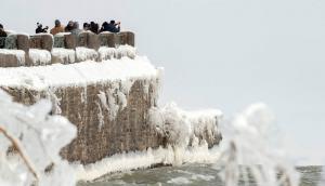 Cataratas del Niágara congeladas por una ola de frío que azota Norteamérica. Foto: Reuters