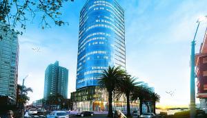 Proyecto. El WTC Punta del Este ya tiene las primeras reservas de oficinas. La obra, de 25 pisos, quedará lista para el año 2020. (foto: WTC)